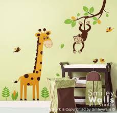Jungle Wall Decal Monkey Wall Decal Giraffe Wall Decal Etsy