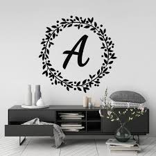 Personalised Initial Wall Art Sticker Custom Typography Room Etsy