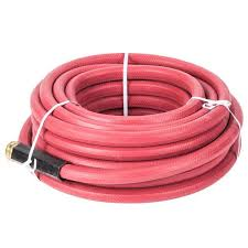 red commercial hot water hose