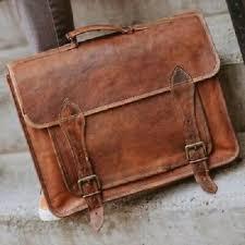 distressed leather laptop messenger bag