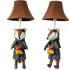 Amazon Com Lh Cartoon Animal Table Lamp Shades For Bedroom Bedside Lamp For Kids Room Decoration 1 Pcs Home Kitchen