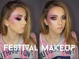 festival coaca glitter makeup