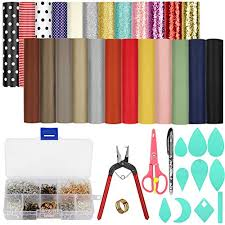 earring making kit a5 size faux leather