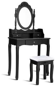 dressing table mirror and stool set