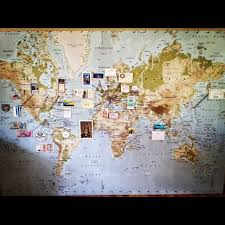 travel map diy wall maps