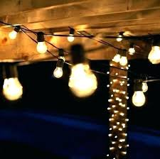 outdoor bulb string lights globe costco
