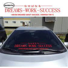 Hotmeini 30 8cm Endless Nights Japanese Kanji Stance Windshield Jdm For Bmw Mugen Car Decal Sticker Black Sliver Etc 13 Colors Car Stickers Aliexpress