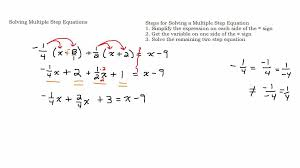 solve a multiple step linear equation