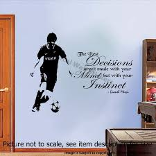 Lionel Messi Quote Wall Stickers Barcelona Fc Player Wall Etsy