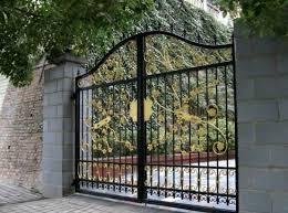 Custom Design Wrought Iron Fence Gate Waterproof Environmentally Friendly