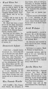 Mrs Fannie Wachs Obituary - Newspapers.com
