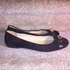 Coach Shoes | Adela Brown Suede Flats Sz7 Turn Lock | Poshmark