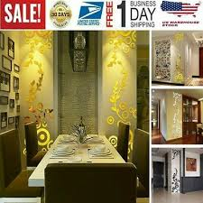 Creative Circle Ring Acrylic Mirror Wall Stickers 3d Home Room Decor Decals New Home Garden Children S Bedroom 3d Decor Decals Stickers Vinyl Art