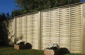 Woven Fence This Fence Panel Recently Featured In Love Your Garden On Itv With Alan Titchmarsh The Desi Fence Panels Slatted Fence Panels Garden Fence Panels