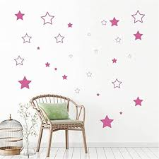 Amazon Com Na Decor Stickers Walls Art Cute Stars Home Decor For Children Kids Room Nursery Decoration Baby Bedroom Decals Home Kitchen