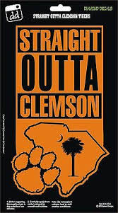 Straight Outta Clemson Tigers Paw Decal Vinyl Sticker Car Truck Laptop Suv New