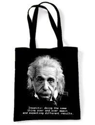 albert einstein quote shoulder bag physics philosophy geek