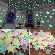 Kids Bedroom Fluorescent Glow In The Dark Stars Glow Wall Stickers Stars Luminous Luminous Glow Sticker Color Name Wall Stickers Nursery Decals From Esw Home 0 8 Dhgate Com