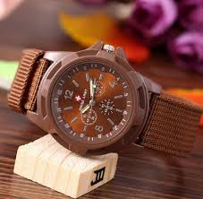 brown white color swiss military quartz
