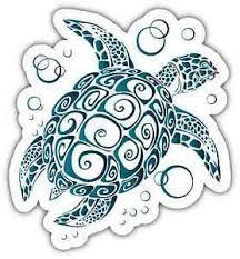 Sea Turtle Tribal Car Bumper Window Vinyl Sticker Decal 4 X5 Ebay