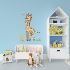 Giraffe Wall Decal Nursery Wall Sticker Nursery Safari Animal Decal Gi Kidscutedecorations