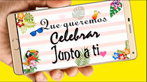 Fiesta Tropical Video Tarjeta Invitacion Cumpleanos Whatsapp