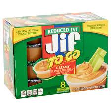 jif to go peanut er spread 8 each