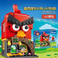 SY6801 Mini Street View Bricks Angry Bird Yellow Man Light Year Forest  Magic House Assembling Building Blocks Children's Toys Blocks