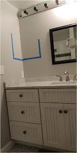 bathroom cabinets above countertop