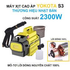 Máy Rửa Xe - Máy Rửa Xe Áp Lực Cao YOKOTA S3, THƯƠNG HIỆU NHẬT BẢN 2300W, Lõi  đồng nguyên chất , tự hút nước