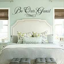 Amazon Com Be Our Guest Wall Decal Vinyl Wall Decals Home Decor Wall Decals Quotes Guest Room Decals Black 4 5 H X 16 W Furniture Decor