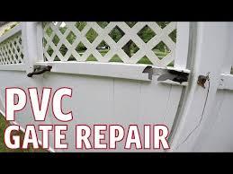 Pvc Gate Repair Plus New Gate Latch Youtube