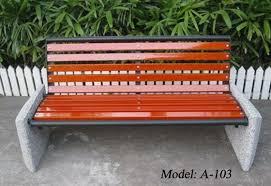 triple seatetal frame park bench