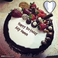 fruity chocolate birthday cake with