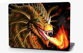 Dragon Fire Vinyl Laptop Computer Skin Sticker Decal Wrap Macbook Vari Roe Graphics And Apparel