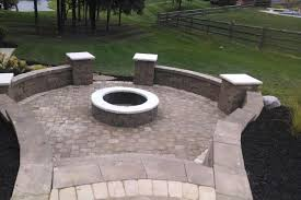 sunken fire pit and patio traditional