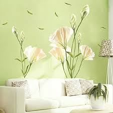 Kaimao Beautiful Lily Flower Wall Stickers Art Decal Murals Removable Wallpapers For Home Decoration Wall Stickers Murals Olivia Decor Decor For Your Home And Office