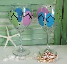 custom hand painted glassware