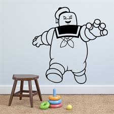 Marshmallow Wall Sticker Ghostbusters Decal Movie Vinyl Art Decorations For Home Housewares Kids Living Room Bedroom Decor Hq356 Wall Stickers Aliexpress