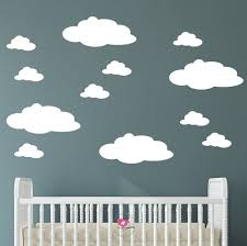 Nursery Cloud Wall Decals Fluffy Magical White Wall Stickers Etsy