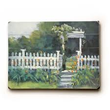 Shop White Picket Fence Planked Wood Wall Decor By Carol Schiff Overstock 22823509