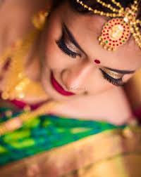 south indian bridal eye makeup look