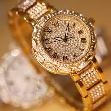 الأزياء الفاخرة النساء الساعات الماس الأزياء الكامل حجر الراين