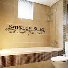 Bathroom Rules Quote Bathroom Wall Decals Stickers Vinyl Art Home Diy Decor Us For Sale Online