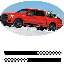 Pick Up Truck Car Side Stripes Side Skirts Graphics Decals Stickers For Chevrolet Colorado Silverado Car Stickers Aliexpress