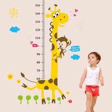 Shop Kids Room Cartoon Giraffe Monkey Height Chart Decor Vinyl Wall Decals Wall Vinyl On Sale Overstock 17998786