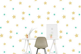 Star Wall Decal Pattern Kid Painted Star Sky Sticker Living Etsy In 2020 Wall Decal Pattern Wall Decals Star Wall Decals