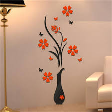 Home Decoration 3d Flower Vase Wall Stickers Entrance Sticker Home Decor Wall Decal Room Sticker Vinyl Stickers For Walls Vinyl Stickers Wall From Toto5 7 03 Dhgate Com