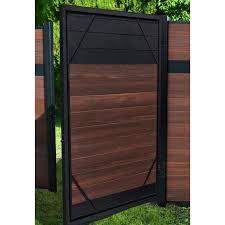 Veranda 5 Ft X 6 Ft Euro Style Adjustable Aluminum Metal Fence Gate Frame Kit Ef 60408 The Home Depot In 2020 Metal Fence Gates Aluminum Fence Gate Fence Design