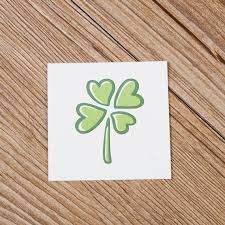 The Lucky Four Leaf Clover Temporary Tattoo Sticker By Vicky Wang Shopswell